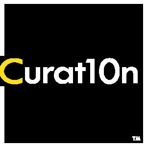 Curat10n White Square Logo