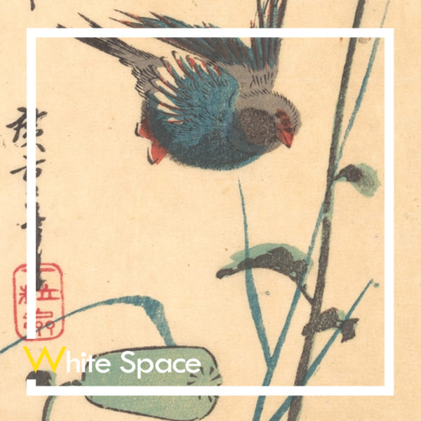 Utagawa Hiroshige Bluebird and Flowering Poppies Curat10n Demo Product White Space