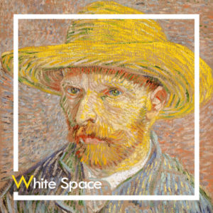 Vincent Van Gogh Self Portrait with Straw Hat Curat10n Demo Product White Space