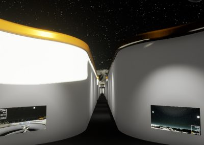 Central Moon Corridor - interactive art exhibition virtual gallery curat10n immersive 3d vr game technology space tech design visualization innovation