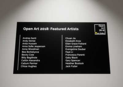 Open Art 2018 Artists Part 1 - interactive art exhibition virtual gallery curat10n immersive 3d vr game technology space tech design visualization innovation