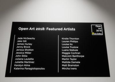Open Art 2018 Artists Part 2