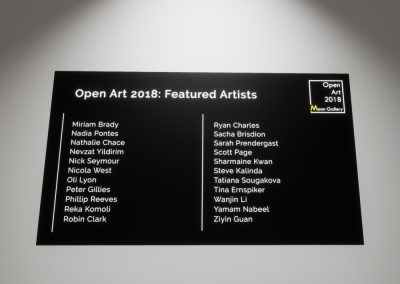Open Art 2018 Artists Part 3 - interactive art exhibition virtual gallery curat10n immersive 3d vr game technology space tech design visualization innovation