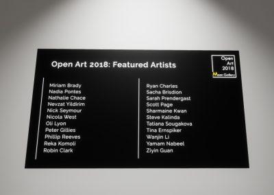 Open Art 2018 Artists Part 3