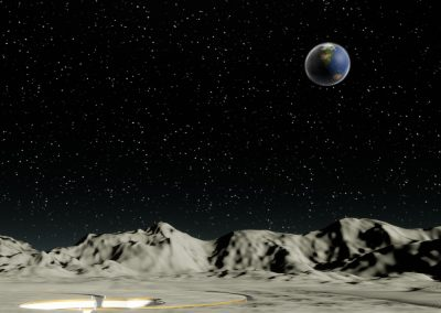 Moon Earth Landscape - interactive art exhibition virtual gallery curat10n immersive 3d vr game technology space tech design visualization innovation