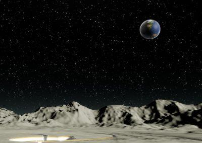 Moon Earth Landscape