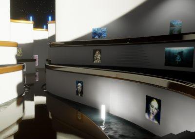 Stairs to the Pool - interactive art exhibition virtual gallery curat10n immersive 3d vr game technology space tech design visualization innovation