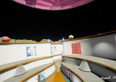 On board the UFO - Moich Moon Gallery - Curat10n virtual art exhibition 3D interactive app download