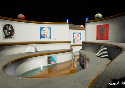 Moon Pools - Moich Moon Gallery - Curat10n virtual art exhibition 3D interactive app download