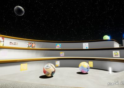 Open Area Artwork - Moich Moon Gallery - Curat10n virtual art exhibition 3D interactive app download