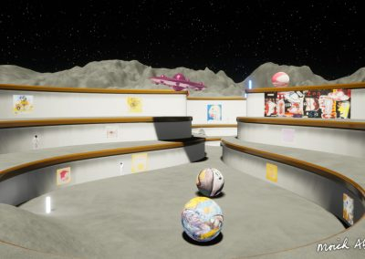 UFO fly-through - Moich Moon Gallery - Curat10n virtual art exhibition 3D interactive app download