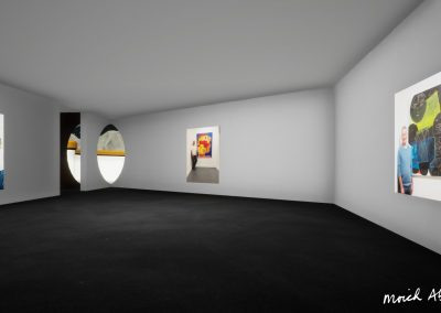 Cube Floor 1 - Moich Moon Gallery - Curat10n virtual art exhibition 3D interactive app download
