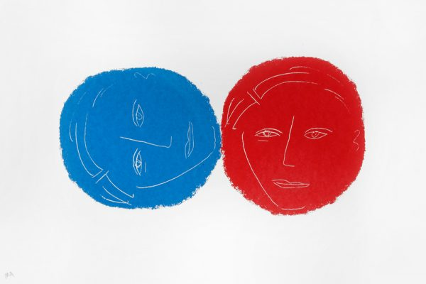 """Two Heads"" - by Moich Abrahams (original) - Buy original artwork & prints in the Curat10n Art Shop"