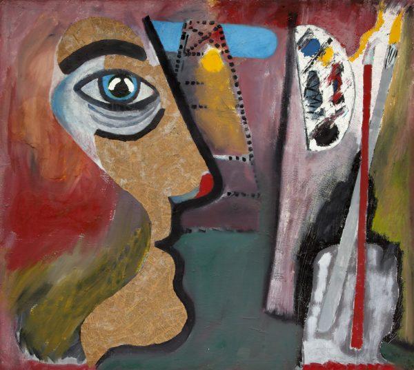 """The Artist"" - by Moich Abrahams (original) - Buy original artwork & prints in the Curat10n Art Shop"