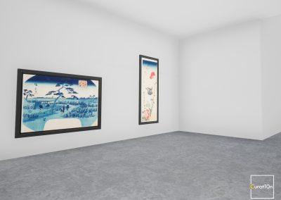 4-3 Corridor - virtual gallery - 3d immersive art exhibition and interactive artist visualisation - curat10n