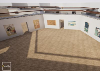 4-3 Eastern - virtual gallery - 3d immersive art exhibition and interactive artist visualisation - curat10n