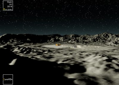 4-3 Flat Moon Theory - virtual gallery - 3d immersive art exhibition and interactive artist visualisation - curat10n