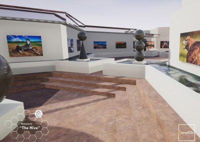 4-3 Garden - virtual gallery - 3d immersive art exhibition and interactive artist visualisation - curat10n