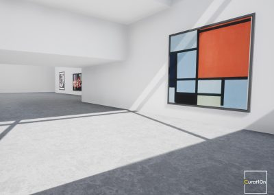 4-3 Mondrian - virtual gallery - 3d immersive art exhibition and interactive artist visualisation - curat10n