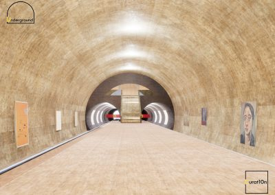 4-3 Platform 2 - virtual gallery - 3d immersive art exhibition and interactive artist visualisation - curat10n