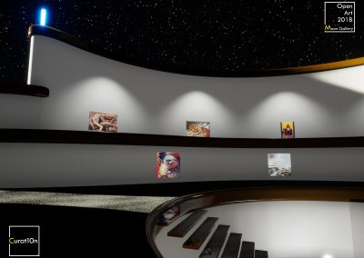 4-3 Pool Stairs - virtual gallery - 3d immersive art exhibition and interactive artist visualisation - curat10n