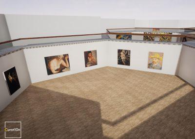4-3 Portrait - virtual gallery - 3d immersive art exhibition and interactive artist visualisation - curat10n