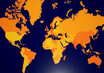 world map open art curat10n exhibition virtual gallery