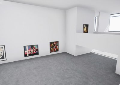 balcony white space virtual gallery art exhibtion curator curat10n