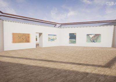 interactive visualize 3d hive gallery exhibition virtual gallery cura app curat10n