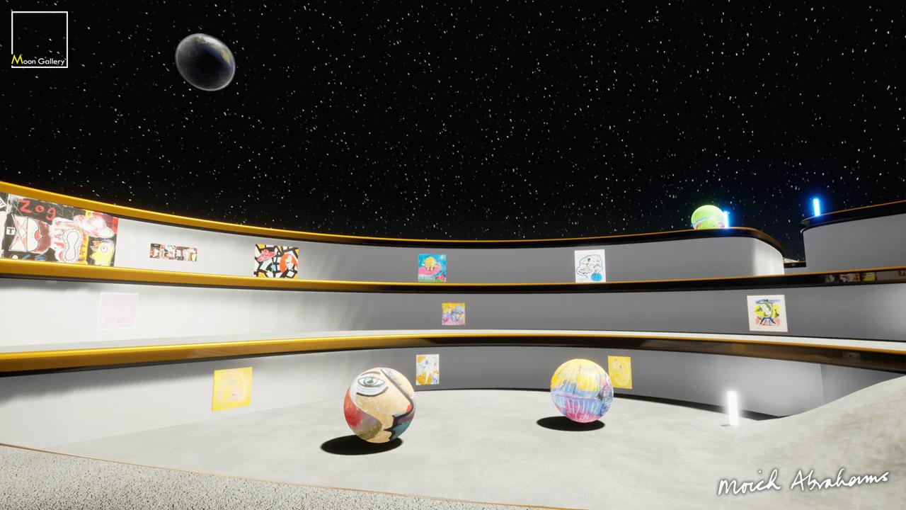 moich abrahams virtual moon exhibition gallery curat10n 1