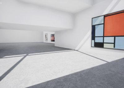 mondrian 3d white space virtual gallery art exhibtion curator curat10n 1