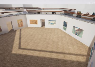 view visualize 3d hive gallery exhibition planning virtual gallery cura app curat10n