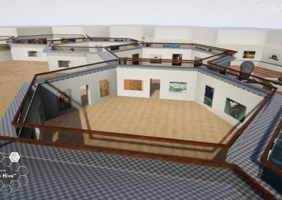 visualize 3d hive gallery exhibition planning virtual gallery cura app curat10n