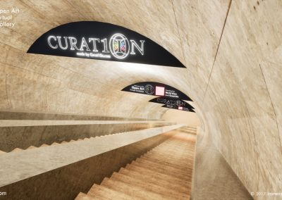 escalator underground exhibition open art virtual gallery london curat10n curate