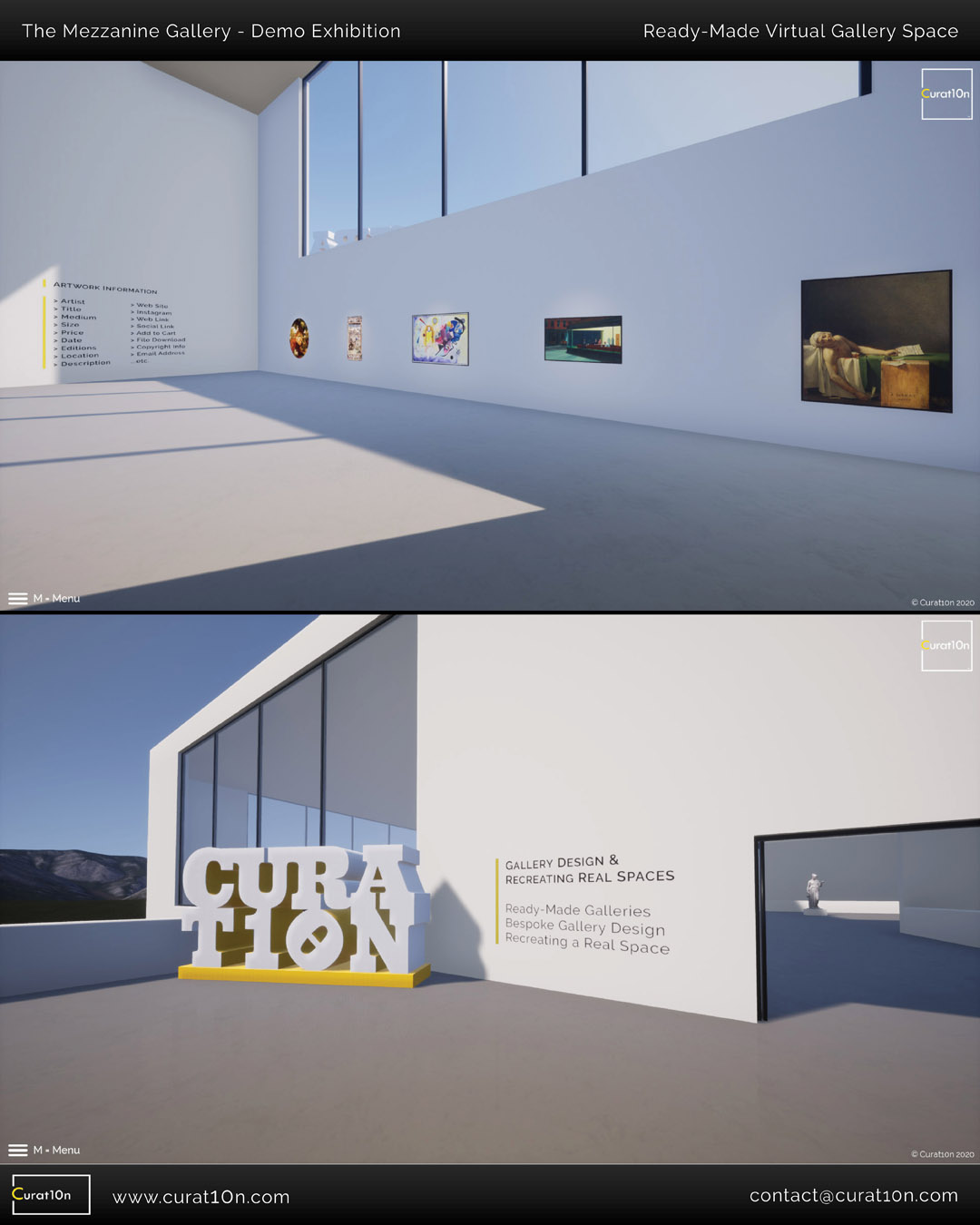 Mezzanine Gallery - Demo Virtual Exhibition - Curat10n Art Gallery